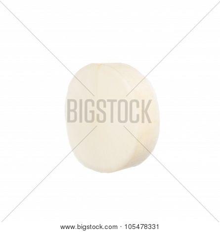 Sliced Chinese Radish Isolated On White