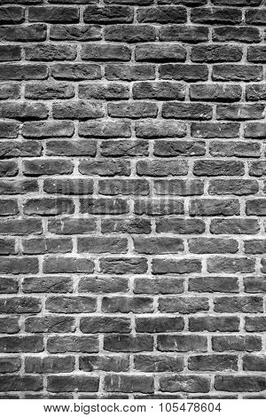 Black grunge brick wall  for background