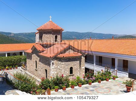 christian orthodox monastery in Malevi, Peloponnese, Greece