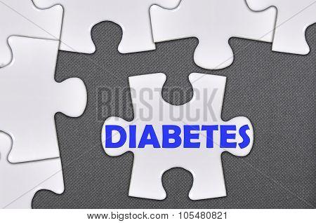 Jigsaw Puzzle Written Word Diabetes