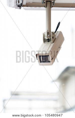 security camera CCTV of retail shop