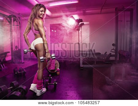 Nice Sexy Woman In Gym, Retouched