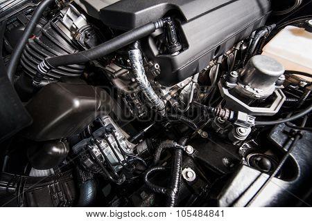 Modern Gas Car Engine