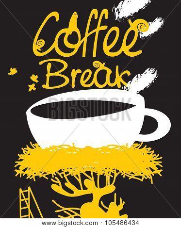 Coffee In Bird Nest