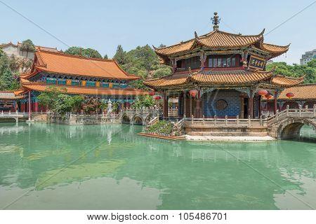 Yuantong Kunming Temple Panorama, Kunming Capital City Of Yunnan, China