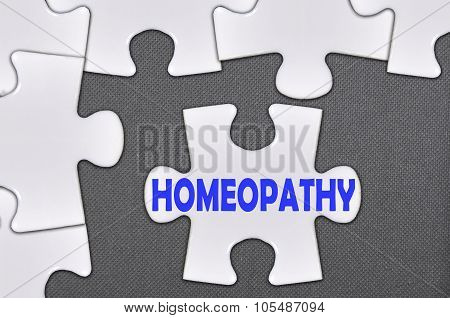 Jigsaw Puzzle Written Word Homeopathy