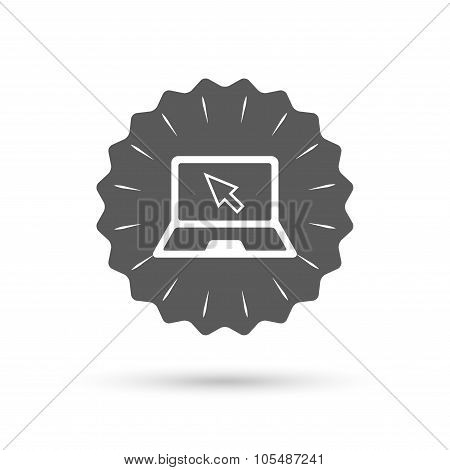 Laptop sign icon. Notebook pc with cursor symbol