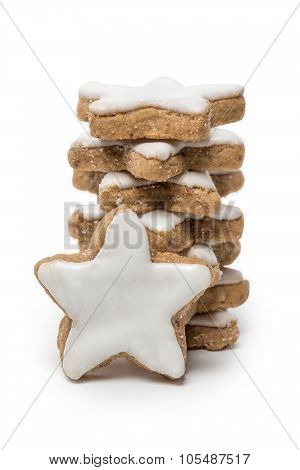 Cinnamon Stars On White