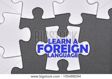 Jigsaw Puzzle Written Word Learn A Foreign Language