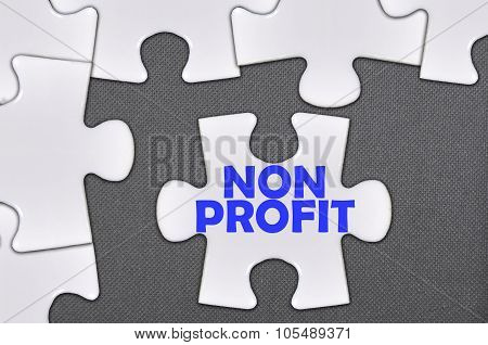 Jigsaw Puzzle Written Word Non Profit