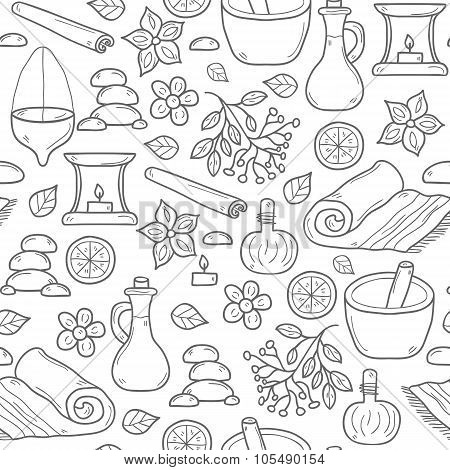 Seamless ayurveda background