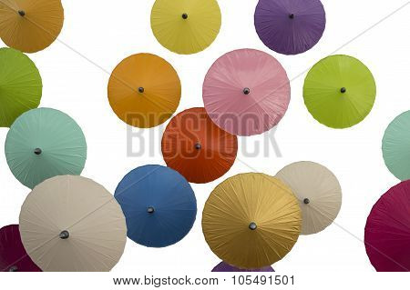 Umbrellas on White