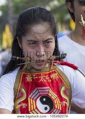 Chinese Vegetarian Festival At Phuket Town. Thailand