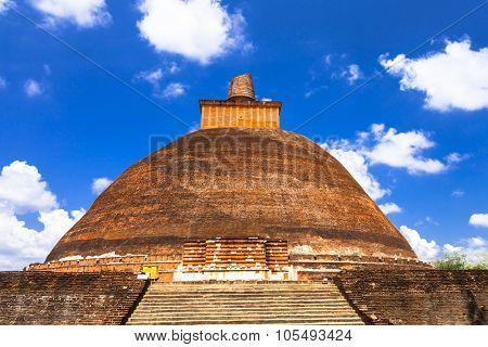 Landmarks of Sri Lanka - stupa of Anuradhapura, UNESCO site