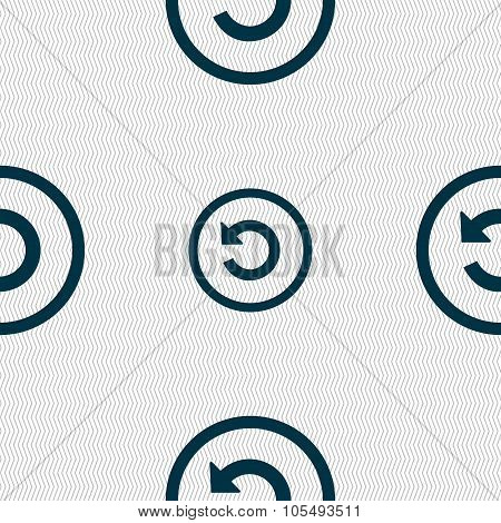 Upgrade, Arrow, Update Icon Sign. Seamless Abstract Background With Geometric Shapes.