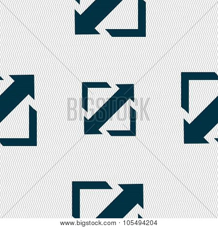 Deploying Video, Screen Size Icon Sign. Seamless Abstract Background With Geometric Shapes.
