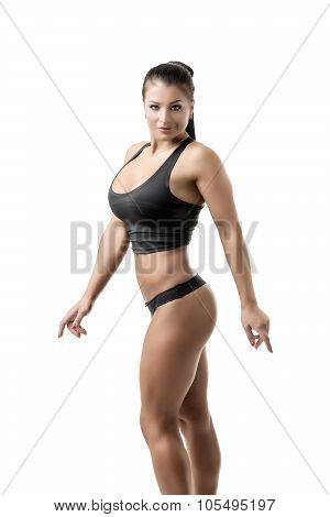 Image of hot female bodybuilder with big boobs