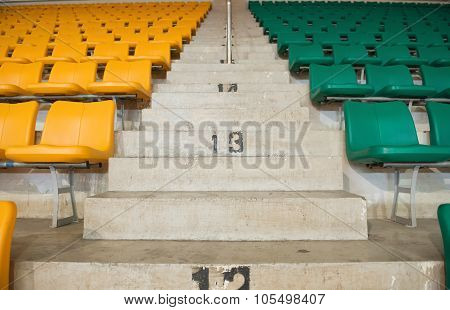 Stadium Seats And Stairs