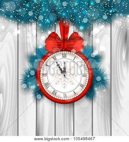 New Year Midnight Shimmering Background
