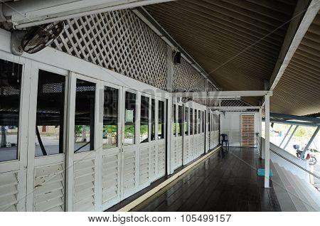 Corridor of Masjid Tanjung Api at Kuantan, Malaysia