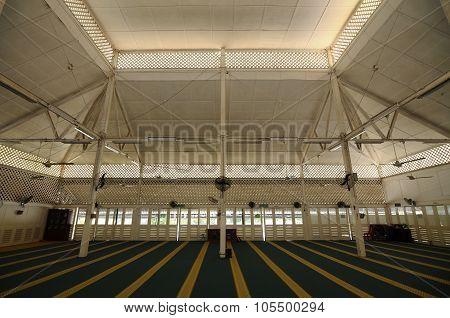Interior of Masjid Tanjung Api at Kuantan, Malaysia