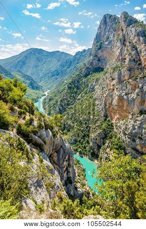 Verdon River In Verdon Canyon