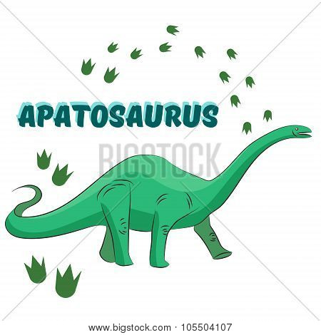 Cartoon dinosaur vector illustration
