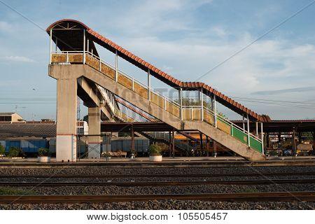 Full Frame Overpass Walkway Up