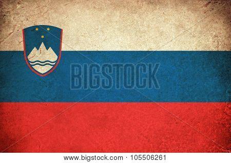 Slovenia Grunge Flag Illustration Of European Country