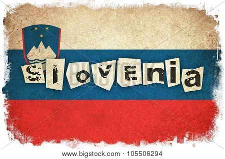 Slovenia Grunge Flag Illustration Of European Country With Text