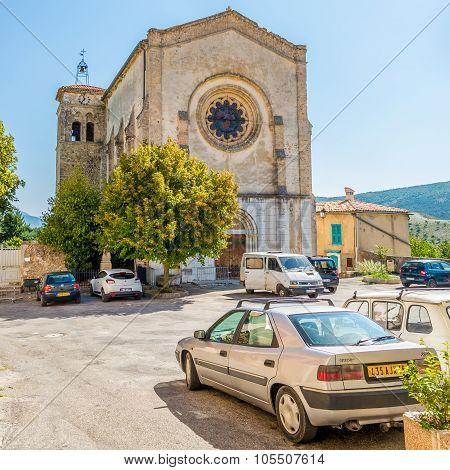 Church Notre Dame De Vauvert Of La Palud Sur Verdon