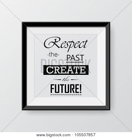 Black Frame With Quote Typography Background