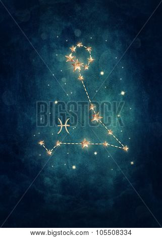 Fish astrological sign in the Zodiac
