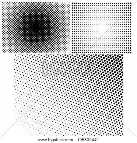 Set of Halftone Dots.
