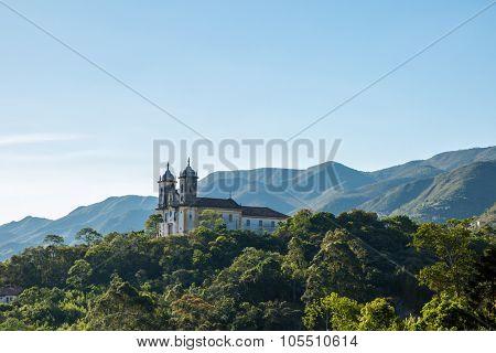 Church San Francisco de Paula in Ouro Preto, Minas Gerais, Brazil