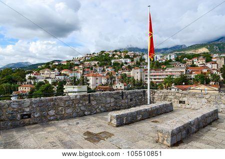 View Of Herceg Novi From Walls Of Forte Mare, Montenegro