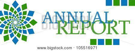 Annual Report Green Blue Element Horizontal