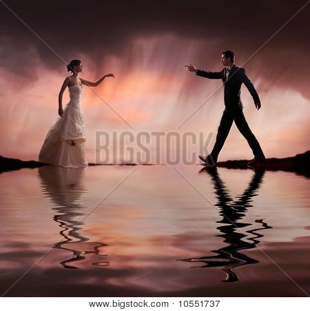 Fine art style wedding photo