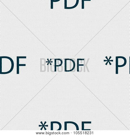 Pdf File Document Icon. Download Pdf Button. Pdf File Extension Symbol. Seamless Abstract
