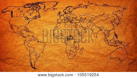 Central African Republic Territory On World Map