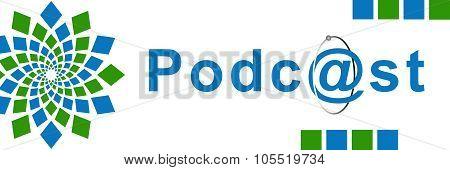 Podcast Green Blue Element Horizontal
