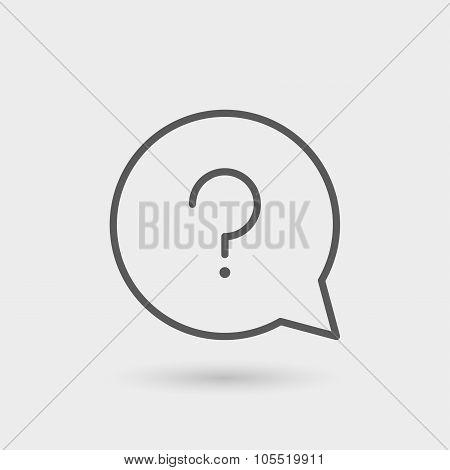 Faq Thin Line Icon