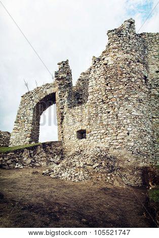 Entrance To The Hrusov Ruins, Slovakia