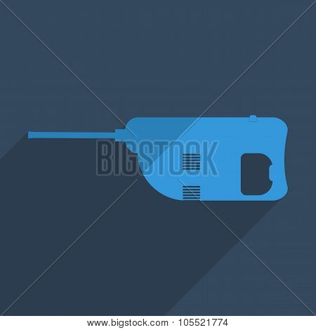 Flat icons modern design with shadow of jackhammer