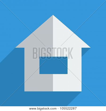 Flat icons modern design with shadow of home
