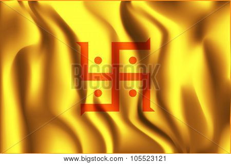 India Jain Variant Flag. Rectangular Shape Icon