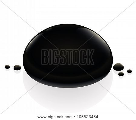 Petroleum Oil Black Drop