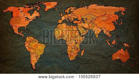 Ghana Territory On Actual World Map