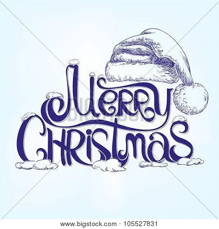 congratulation MERRY CHRISTMAS hand lettering - handmade calligraphy,
