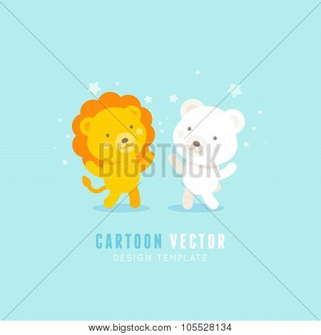 Vector Logo Design Template In Flat Style